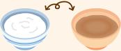 交互に食べるイメージ図