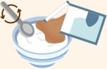 かけて食べるイメージ図